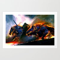 Hellhounds - Painting St… Art Print