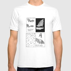 Bats In Your Hair White Mens Fitted Tee SMALL