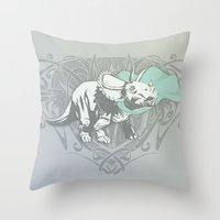 Fearless Creature: Frill Throw Pillow