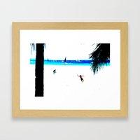 Borocay Beach Dive - Happy Place Framed Art Print