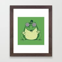 Hypnogenic Toad Framed Art Print