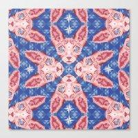 Sphynx Cat - Rose Quartz… Canvas Print