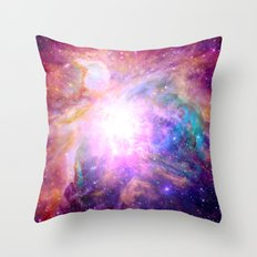 Galaxy Nebula Throw Pillow