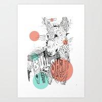 BULL II Art Print