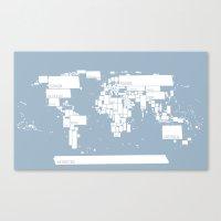 map Canvas Print