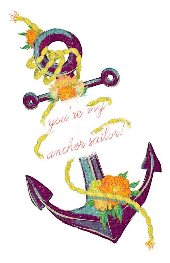 You're My Anchor Art Print