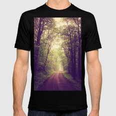 The Sound of Fog Coming Down Black Mens Fitted Tee SMALL