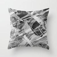 Marble X Throw Pillow