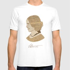 Charlotte Bronte  Mens Fitted Tee White SMALL