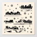 central park snow Canvas Print