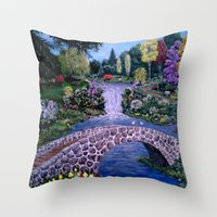 My Garden - by Ave Hurley Throw Pillow