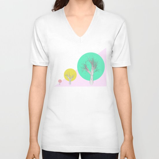 In my world forests are geometric V-neck T-shirt