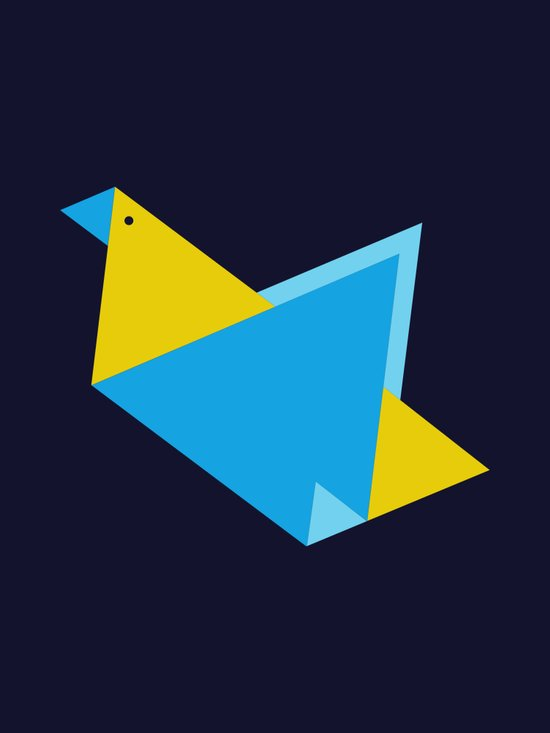 Triangle Bird Art Print