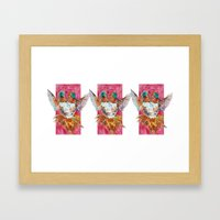 The Ultimate Pollinator, Triptych Framed Art Print