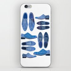 Blue Brogue Shoes iPhone & iPod Skin