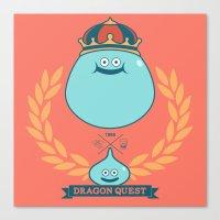 Dragon Quest Slime Monog… Canvas Print