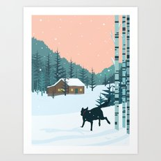 Back home Art Print