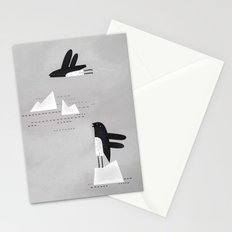 is that penguin flying? Stationery Cards
