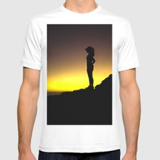 Taking a Run Break Mens Fitted Tee SMALL White