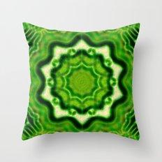 WOOD Element kaleido pattern Throw Pillow