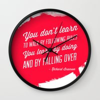 Richard Branson success quote Wall Clock