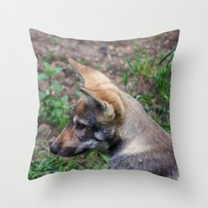 Canis Lupus Lupus Throw Pillow