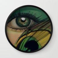 Through The Eye Of A Pea… Wall Clock