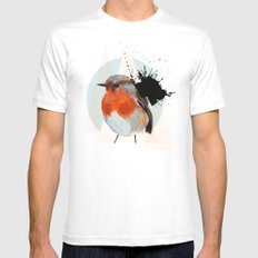 Robin White SMALL Mens Fitted Tee