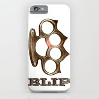 iPhone & iPod Case featuring KNUCKIFYOUBUCK by blip