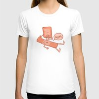 Come To My Aid Womens Fitted Tee White SMALL