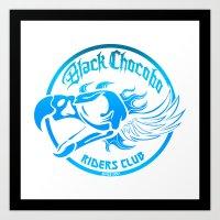 Black Chocobo Riders Clu… Art Print
