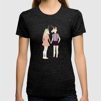 Our love is unique, we are Unicorns (text version) Womens Fitted Tee Tri-Black SMALL