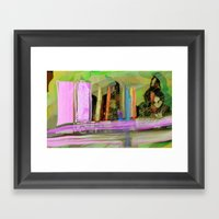 Color Spikes Framed Art Print