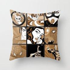 super super  Throw Pillow