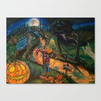 At The Stroke Of Hallowe… Canvas Print