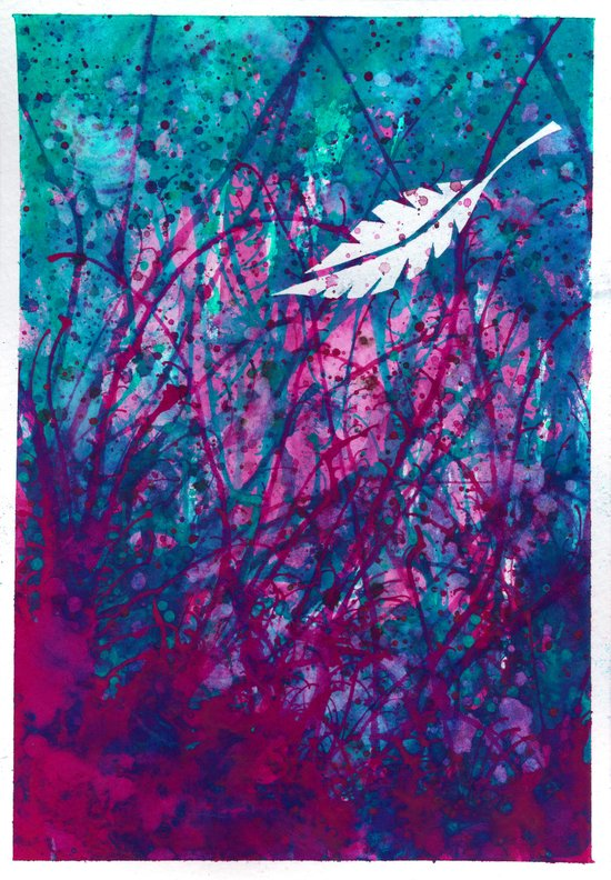 Floating Feather Canvas Print