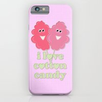 iPhone & iPod Case featuring cute cotton candy by Emma Harckham