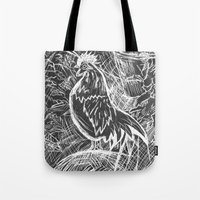 Chicken Scratch Tote Bag