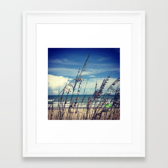 Through The Reeds Framed Art Print