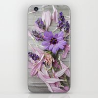 Floral Still life, grey, pink, lavendar iPhone & iPod Skin