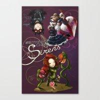 Gotham Chibi Sirens Canvas Print