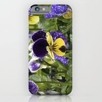 Violets on a rainy morning iPhone 6 Slim Case