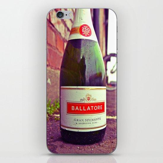 Urban wine bottle iPhone & iPod Skin
