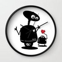 Robot Heart to Heart Wall Clock