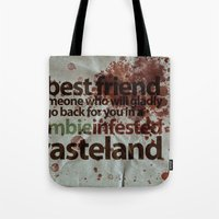 Zombie Infested Wasteland Tote Bag