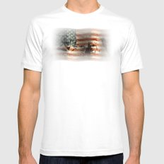 The Rise of a Nation SMALL Mens Fitted Tee White