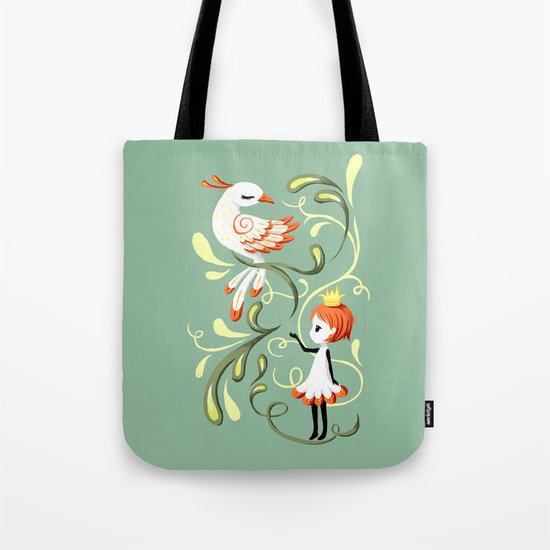 Princess and a Bird Tote Bag