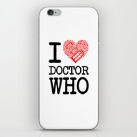 I love Doctor Who (Tardis Heart) I Love New York Mashup iPhone & iPod Skin