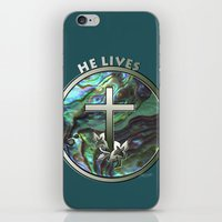 He Lives - Cross iPhone & iPod Skin