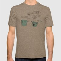 Another Optimistic Glass Mens Fitted Tee Tri-Coffee SMALL